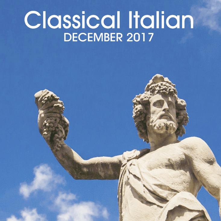 December 2017 - Classical Italian