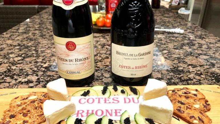 Guigal versus Brunel de la Gardine Côtes du Rhône